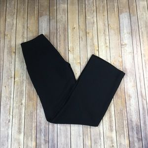 Black pants, side zip wide leg